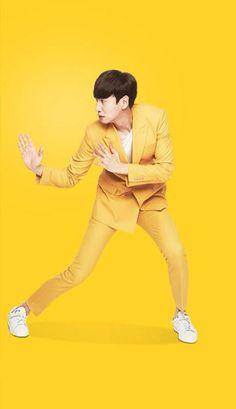 Lee kwang soo all yellow Asian Actors, Korean Actors, Runing Man, Lee Kwangsoo, Running Man Members, Running Man Korean, Korean Variety Shows, Kim Jong Kook, Kwang Soo