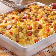 Sunrise Sausage Bake (Easy; 12 servings) #casserole #sausage