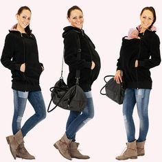4in1 Kangaroo maternity hoodie with baby by GoFutureWithLove