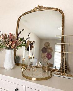 Room Ideas Bedroom, Home Decor Bedroom, Parisian Bedroom Decor, Sage Bedroom, Gold Bedroom, Bedroom Vintage, Decor Room, Makeup Room Decor, Makeup Vanity Decor