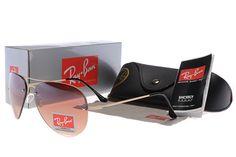 New 2014 Ray Ban Aviator Black Golden Frame Sunglasses
