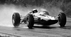 Old days wet set-up in Formula 1