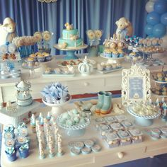 Peanut baby shower, baby boy shower, candy table, baby party, baby show Peanut Baby Shower, Baby Shower Treats, Grey Baby Shower, Baby Shower Table, Baby Birthday Themes, Birthday Parties, Babyshower, Candy Table, Baby Party