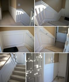 cheater Wainscoting Tutorial.  Looks nice