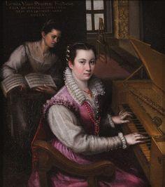Lavinia Fontana, Self-portrait at the Spinet, ca. 1577-78