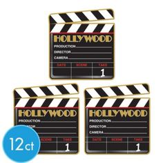 Hollywood Clapboard Cutouts - Party City