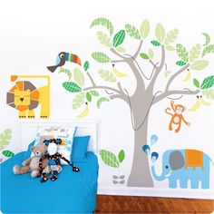 This is what I'm thinking of putting in William's big boy room!! It's 'Jungle Land' by Cocoon Couture.