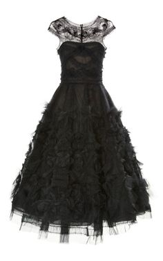 Shop Corseted Tulle Full Skirt Cocktail Dress by Marchesa - Moda Operandi. looove and check out the back!