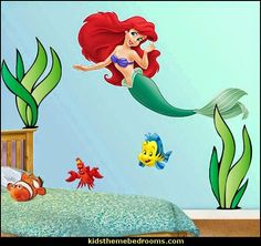 Disneys The Little Mermaid - Ariel Fathead-sea plants wall decals