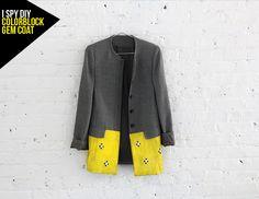 Colorblock Gem Coat