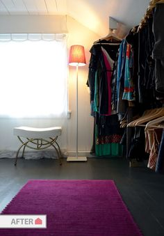Before And After Empty Room Turned Walk In Closet Old House New Tricks