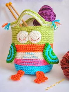 AllSoCute Amigurumis: Crochet Bag Pattern Girls Purse, Crochet Owl Purse Pattern, Bag, Girls Handbag