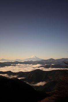 View of Fuji from Mt. Takanosu (Tokyo, Japan)|Fujisan 富士山