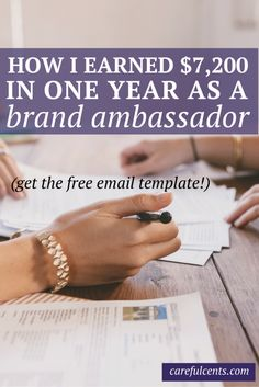 how to become a brand ambassador and how I earned an extra $7,200 from blog and brand sponsorships without selling out.