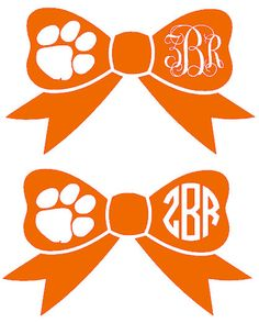 Clemson Paw Monogram Bow Decal by ZoeRoseVinyl on Etsy, $3.50...OMG!