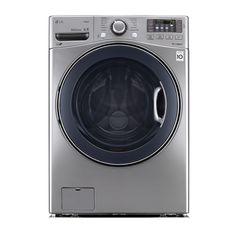 Shop LG 4.3-cu ft High-Efficiency Front-Load Washer with Steam Cycle (Graphite Steel) ENERGY STAR at Lowes.com