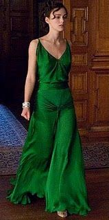 Keira Knightley (Atonement)  Great green gown....