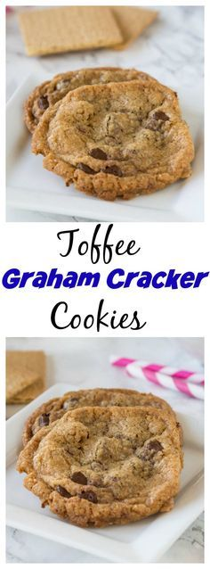 Toffee Graham Cracker Cookies – Crisp graham cracker cookies with warm chocolate…