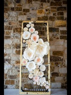 Flores de papel - Photo backdrop