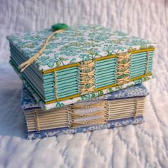 handbound notebooks designed by Kate Bowles #handmade_books #crafts #bindings