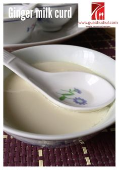 Classic Cantonese Dessert : Ginger Milk Curd (姜汁撞奶)