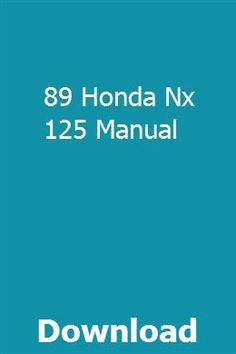 89 Honda Nx 125 Manual Repair Manuals User Manual Vw Passat