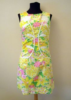 Vintage 'The Lilly' Lilly Pulitzer Dress Applique Front Pockets - 6 small RARE #LillyPulitzer