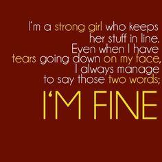 Multiple Sclerosis- I'm fine.
