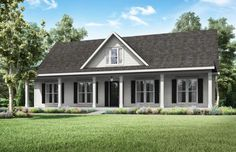 Camellia Farmhouse collection is a floor plan from builder Manuel Builders developed for our new homes in Lafayette and Lake Charles LA. Simple Farmhouse Plans, Simple House Plans, New House Plans, Dream House Plans, House Floor Plans, Farmhouse Homes, Country Homes, Farmhouse Ideas, Country Living