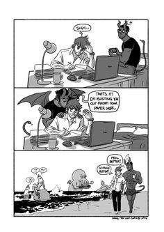 I just LOVE the webcomic of Tobias and Guy. They are so cute and adorable >w< (webcomic by tohdaryl)