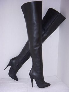 Catsuits and long gloves, thigh boots and trenchcoats.these are a few of my favorite things! Thigh High Boots, High Heel Boots, High Heels, Crotch Boots, Long Gloves, Vintage Boots, Sexy Boots, Black Leather Boots, Thigh Highs