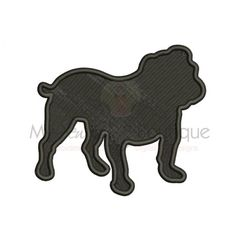 Bulldog Embroidery Designs - Machine Embroidery Designs - 8 Sizes - Instant Download