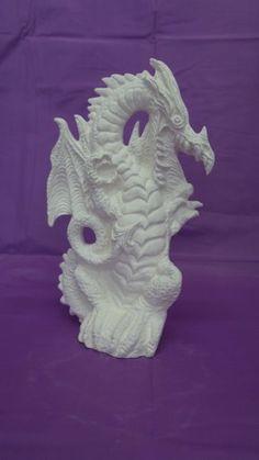 Ceramic Bisque Dragon - Ready to Paint | GrandmasGeneralStore - Craft Supplies on ArtFire