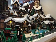 Tis the season to build holiday villages. Nolphi Plays built an incredible town for the season that nearly takes up a whole room. The old European style village has many great scenes including a ho…