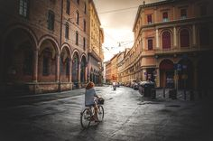 Bologna - Cycling in Via Farini by Luca Lorenzelli on 500px