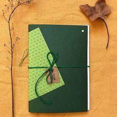 Notebook *evergreen* fatto a mano