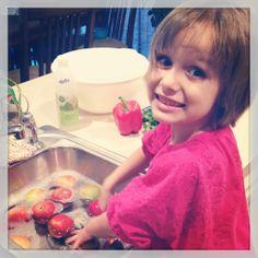 Basic H: Fruit & Veggie Wash that I'm ok with my kids using! www.angiestruemke.myshaklee.com #shaklee #basich #fruitwash #veggiewash #naturalcleaner #safe