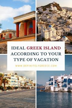 When you think of Greece, the first thing that pops in your mind is summer on a sunny Greek island.So, you get excited and start planning your vacation, right? But here comes the difficult part. Which Greek island is the ideal one for you? Visit our website and discover the best Greek island for you.   #GreeceLikeALocal #DefinitelyGreece #SummerVacation #GreekDestinations Greek Islands To Visit, Best Greek Islands, Greece Itinerary, Greece Travel, Greek Island Hopping, Venice Travel, Santorini Greece, Island Life, Countries Of The World