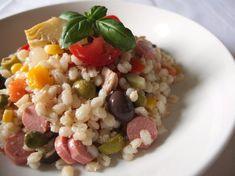 Insalata di orzo perlato Cold Dishes, Quinoa Rice, Italian Recipes, Risotto, Meal Prep, Pasta, Grains, Food And Drink, Soup