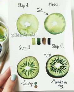 Hello 🥝😌 my new tutorial is done. Love seeing your beautiful paintings bas… Hello 🥝😌 my new tutorial is done. Love seeing your beautiful paintings based on my step-step tutorials 😍Don't forget to tag me so I won't… – Watercolour Tutorials, Watercolor Techniques, Art Techniques, Watercolor Beginner, Step By Step Watercolor, Watercolor Fruit, Watercolour Painting, Watercolors, Watercolor Ideas