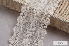 What do you think of this lace? Broderie Anglaise Vintage Venice lace trim by Laceking Applique Monogram, Embroidery Patterns Free, Linens And Lace, Vintage Lace, E Bay, Sewing Crafts, Sewing Ideas, Lace Trim, Crochet Necklace