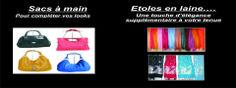 Des étoles indiennes dans divers prix et de qualité ainsi que des sacs à main pour femmes.