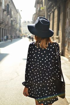 polka dotted shirt dress || zazumi.com