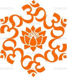 Orange Lotus Flower Om mandala lotus flower
