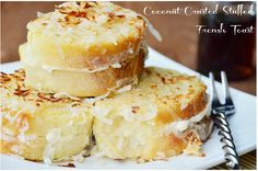 Coconut Crusted Stuffed French Toast Recipe
