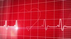 EKG electrocardiogram pulse trace heart monitor Motion Background ...