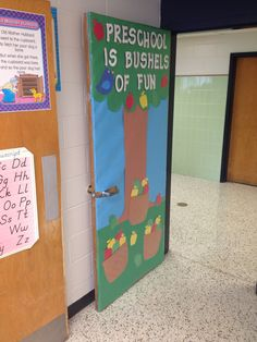 Preschool Apple Classroom Door
