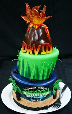 Survivor cake for David Williams by Gimme Some Sugar (vegas!), via Flickr