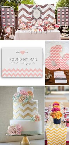 Fun Chevron Wedding Ideas! For more great ideas for your wedding or event contact www.timelessweddingandevents.com #wedding #party #event