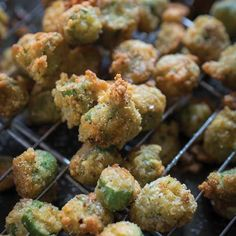 Okra, that quintessentially Southern vegetable, is a perfect appetizer fried up in a buttermilk and cornmeal batter.